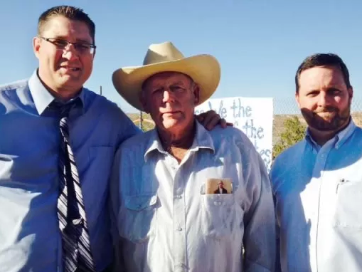 Left to right:  Bryan Hyde, Cliven Bundy, Ryan Bundy