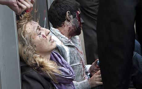Officials said 24 were killed in the Lubyanka blast, while 12 were killed in the Park Kultury. Photo: AP
