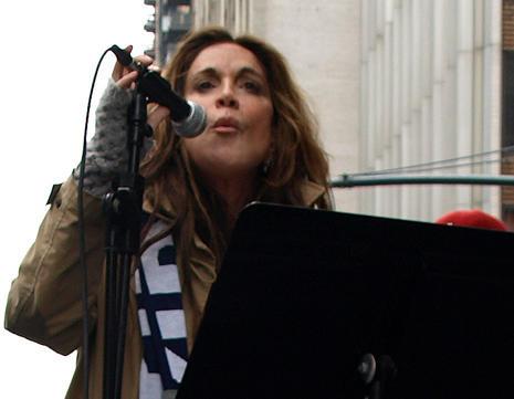 Pamela Geller addresses the crowd.
