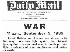 The Daily Mail, 3 September 1939